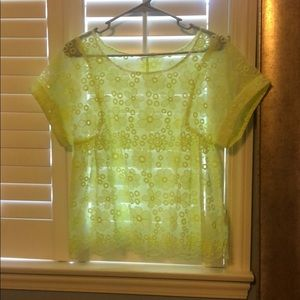 Tops - Neon yellow blouse